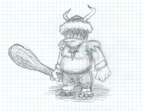 Lava Blade ogre sketch