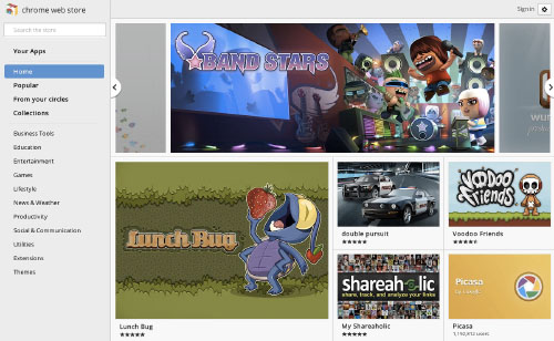 Lunch Bug featured in the Chrome Web Store