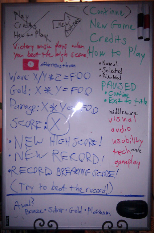 Whiteboard flow