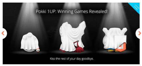 The Pokki homepage after the contest